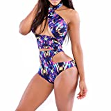 Aweids Sexy Hollow Out Clubwear Print Bikini Set Two-piece Swimsuit thumbnail