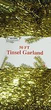 50ft Gold Garland Tinsel