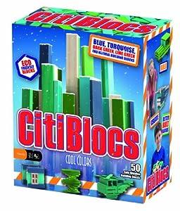 CitiBlocs 50-Piece Cool-Colored Building Blocks
