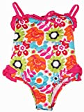 Pink Platinum Toddler Girls 2-4T Spring Flower Garden UV Ptotected Swimsuit