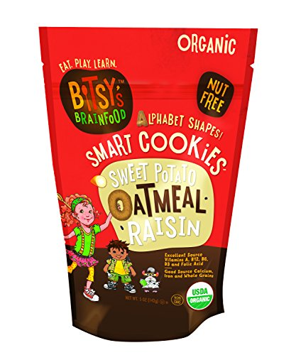 Bitsy's Brainfood Cookie, Sweet Potato Oatmeal Raisin, 5 Ounce (Bitsy Brain Food compare prices)