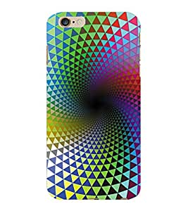 ColourCraft Colourful Pattern Design Back Case Cover for APPLE IPHONE 6S PLUS