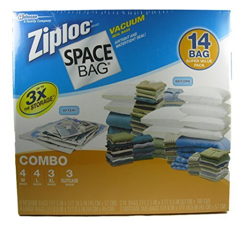 Ziploc Space Bag Vacuum Seal Bags 14 Bag Variety Pack