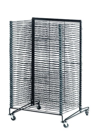 School Specialty Mobile Steel Drying Rack - 26 1/2 x 27 x 43 inches