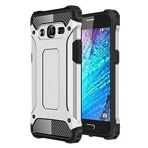 Crazy4Gadget For Samsung Galaxy J2 (2016) / J210 Tough Armor TPU + PC Combination Case (Silver)