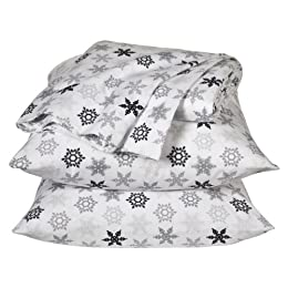 Product Image Home Snowflake Flannel Sheet Set