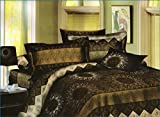 SKAP Brown Bedsheet with 2 pillow covers