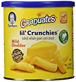 Gerber Graduates Lil Crunchies, Mild Cheddar, 1.48-Ounce Canisters (Pack of 6)