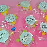 Amazon.co.jpSweet Factory Yammy(スイートファクトリー ヤミー) プチギフト ミニ金平糖 プチお菓子 ピロ包装 ブライダル 結婚式シール × 50個