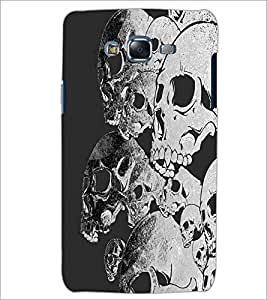PrintDhaba Skulls D-2096 Back Case Cover for SAMSUNG GALAXY ON 7 (Multi-Coloured)
