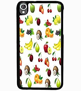 ColourCraft Fruits Design Back Case Cover for HTC DESIRE 820