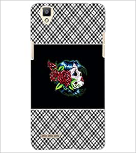 PrintDhaba Flowers D-4679 Back Case Cover for OPPO F1 (Multi-Coloured)
