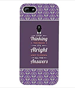 ColourCraft Quotes Back Case Cover for APPLE IPHONE 5S