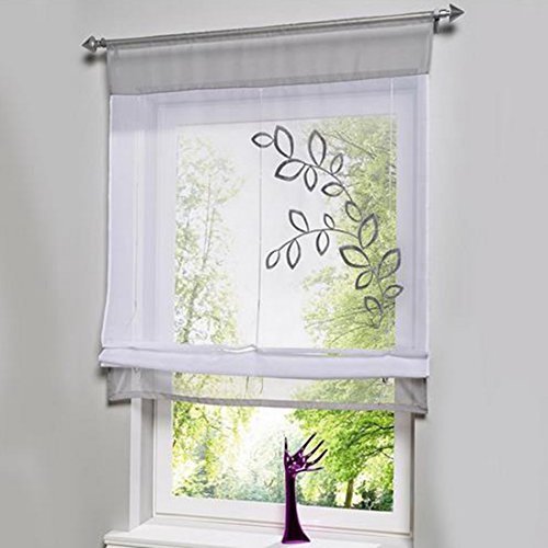hoomall bestickt gesplei te st bchen vorh nge tragen. Black Bedroom Furniture Sets. Home Design Ideas
