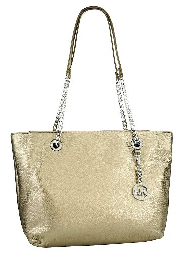 Michael Kors Jet Set Chain Item Large Leather East/West Tote, Bronze