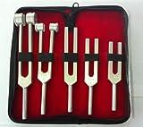 Tuning Fork Set of 5 {C128, C256, C512, C1024 & C2048 } FREE CASE