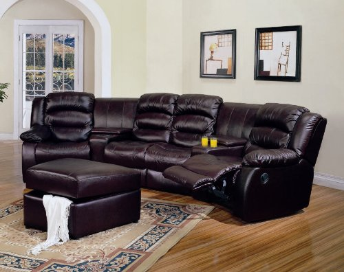 Contemporary Decorating Living Room Archer Reclining Sectional Sofa Home Theater Seating NEW COLLECTION
