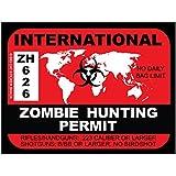 International Zombie Hunting Permit (Bumper Sticker)