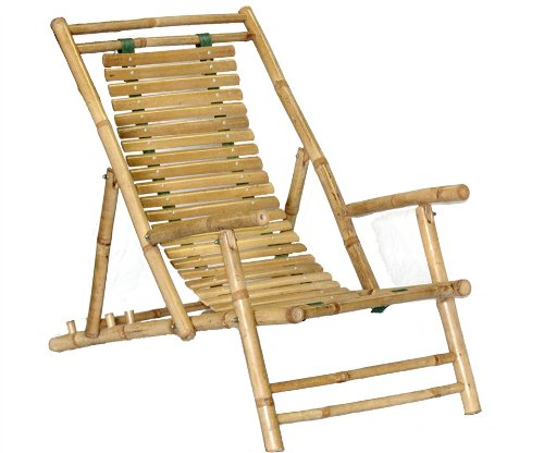 Bamboo Recliner Chair [Set of 2] image
