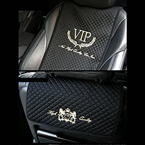 Amazon.com: VIP Car Seat Covers Mat Gold Stitch Logo for