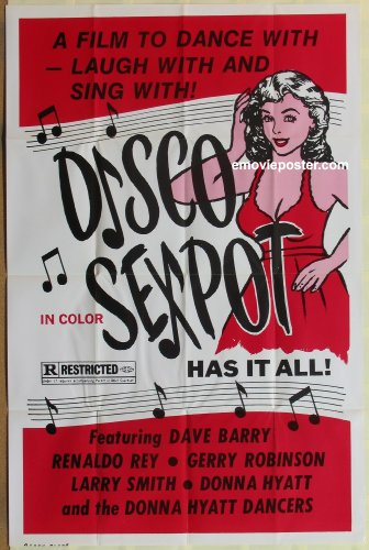 DISCO SEXPOT one-sheet movie poster '70s sexy disco babe has it all!