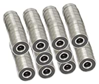 608-2RS Skateboard Bearing, 8x22x7, Sealed (Pack of 100) by VXB