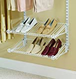 Rubbermaid Configurations Add-On Shoe Shelf Kit, White, FG3H9403WHT
