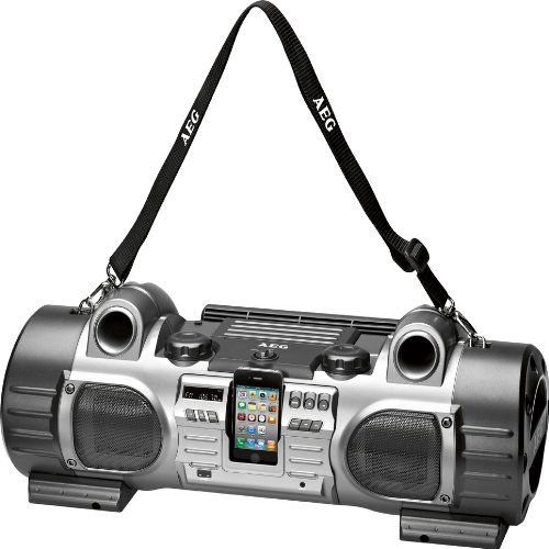 AEG SRP 4343 iP  Stereo Radio Player für Apple iPod/iPhone-Dockingstation (AUX-Eingang) schwarz-anthrazit