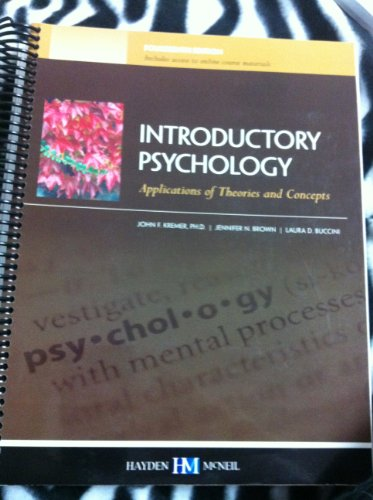 Introductory Psychology: Applications of Theories and Concepts, 14th Edition, Indiana University