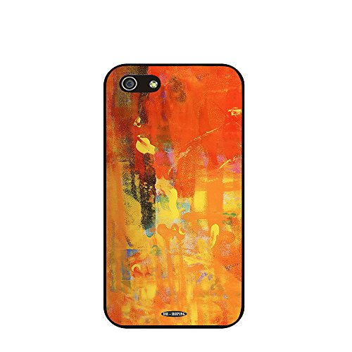 Dh-Hoping (Tm) Cell Phone Case For Personalizatied Custom Picture Iphone 5C High Impackt Combo Soft Silicon Rubber Hybrid Hard Pc & Metal Aluminum Protective Case With Customizatied Paint Retro Style Splash-Ink Luxurious Pattern (Dye-02)