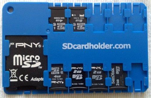 Micro SD card holder - BLUE (Sd Micro Chip compare prices)