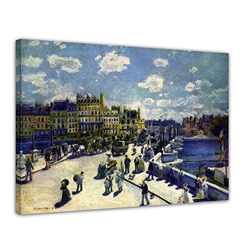 """Bilderdepot24 Leinwandbild Pierre-Auguste Renoir - Alte Meister """"Pont-Neuf"""" 70x50cm - fertig gerahmt, direkt vom Hersteller"""