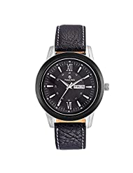Franck Bella Calender Series Exclusively Designed Watch With Black Case Soft Leather Belt Analog Black Dial Mens...