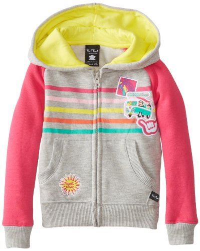 Paul Frank Little Girls' Vacation Hoodie, Grey Heather, 2T front-970724