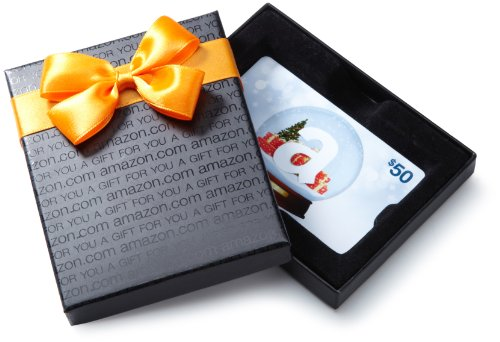 Amazon.com $50 Gift Card with Gift Box (Holiday design)