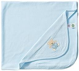 Little Me Baby Boys\' Cute Bear Blanket, Light Blue, One Size