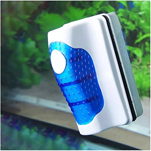 Bestgoo Magnetic Algae Glass Cleaner for Fish Tank Scrubber, Aquarium Cleaner Brush Lagre Size