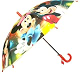 #8: SurprizeMe Kids Designer Micky Minnie Mouse Girls Kids Stick Umbrella, Red & Yellow