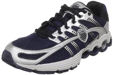 K-Swiss Men's Super Tubes Run 50 Running Shoe, Navy/Silver/Black, 7.5 M US