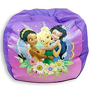 Disney Fairies Tinkerbell Bean Bag Chair for Girls from Idea Nuova