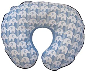 Boppy Organic Pillow Signature Slipcover, Elephant Parade