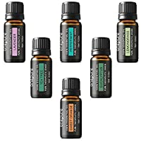 Onepure Aromatherapy Essential Oils Gift Set, 6 Bottles/ 10ml each, 100% Pure& Therapeutic Grade (Lavender, Tea Tree, Eucalyptus, Lemongrass, Sweet Orange, Peppermint) by Onepure