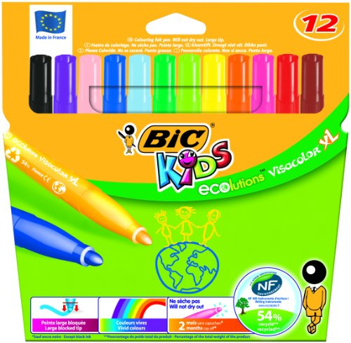 bic-kids-ecolutions-visa-color-xl-felt-pens-assorted-pack-of-12