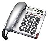 Audioline BigTel 48 Telefon große Tasten und augenfreundlichem Display silber