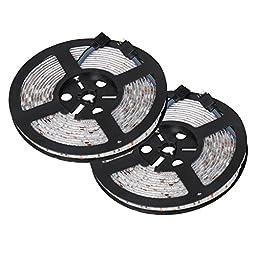 Sunnest 2 Pack 16.4ft 5M LED Strip Lights,Waterproof Flexible Strip, 300leds SMD Color Changing RGB SMD5050 LED Rope Light for Lighting or Decoration