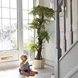 Large Luxury Artificial Japanese Fruticosa Tree, Stylish Contemporary Handmade Using Real Bark Replica Fake Indoor Plant - 5ft 4 Inches/165cm Tall. Perfect for Conservatory, Hotel, Restaurant, Balcony, Patio, Summer House, Home or Office