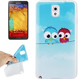Lovely Birds Pattern TPU Protective Case for Samsung Galaxy Note 3 N9000