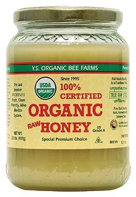YS Organic Bee Farms CERTIFIED ORGANIC RAW HONEY 100% CERTIFIED ORGANIC HONEY Raw, Unprocessed, Unpasteurized - Kosher