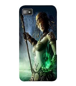 ColourCraft Warrior Girl Design Back Case Cover for BLACKBERRY Z10