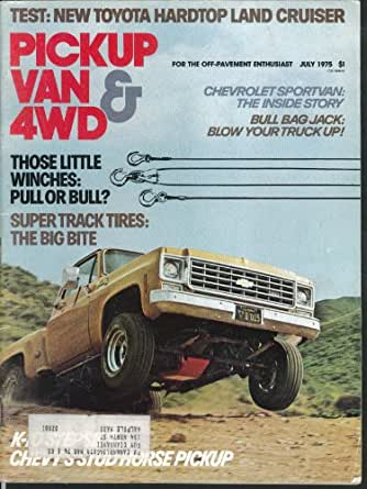 PICKUP,VAN, 4WD MAGAZINE-MARCH 1976-CHEVY 454 C10-JEEP CHEROKEE CHIEF-VINTAGE